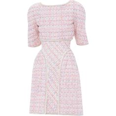 Chanel - edited by mlleemilee ❤ liked on Polyvore featuring dresses, chanel, chanel dresses and pink dress