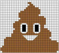 I'm no pattern-making expert, but I wanted to share a chart I made for my Mom's Christmas present. The infamous Poop Emoji. - Imgur