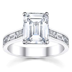 THIS IS IT!!!  DEAR FUTURE HUSBAND, @Overstock.com.com - 14k White Gold 7/8ct TDW Diamond Engagement Ring (H-I, VS1-VS2) - Win her hand and her heart with this stunning white gold and diamond engagement ring. With a half-carat emerald-cut stone prong set in the center and six baguette-cut diamond side stones, this 14-karat ring will dazzle her friends and family…