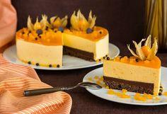 "Art of cookery | Cheesecake ""sea-Buckthorn berries-cherries-dark chocolate"""