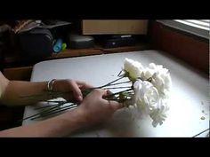 Strauß aus Stoffrosen - dreiteiliges Tutorial