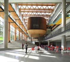 University of British Columbia – AMS Student Union Building in Vancouver, Canada Atrium Design, H Design, Wood Design, Design Ideas, University Of British Columbia, Landscape Architecture, Interior Architecture, Interior Design, University Architecture