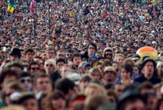 Festival goers wait for the music to begin in front of the Pyramid Stage on the third day of the Glastonbury Festival Photo Pin, Celebrities, Pictures, Third, Stage, Events, Music, Floral, Happenings