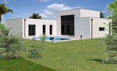 Maison contemporaine en gironde de 140 m² offrant un bel espace de vie de 50 m², donnant sur une agréable terrasse extérieure.