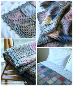 @ Annie's Place -  Contemporary Crochet Granny Square Blanket Reveal - border is #93 from the book Around the Corner Crochet Borders by Edie Eckman