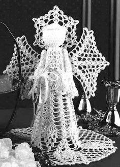 Scraps and Heirlooms Diary: Free Crochet Pattern - Christmas Angel Vintage Crochet Pattern