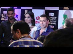 Salman Khan with Sonam Kapoor at ZEE CINE AWARDS 2016 red carpet.