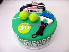 Tennis Cupcakes, Tennis Cake, Tennis Party, Boss Birthday, Birthday Cake, Bakery, Sport Cakes, Bar Mitzvah, Cake Art