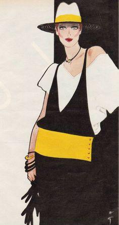 #FashionIllustration by René Gruau (1909-2004).
