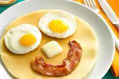 Why not make your pancakes smile? - Taste the full flavor of a New England Tradition with Vermont Maid. vermontmaid.com #pancakes #smile #fun