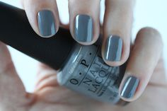 OPI Fifty Shades Of Grey - Embrace The Gray Swatch via @FabFatale