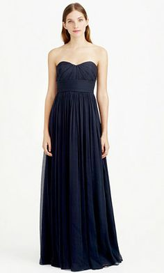 J Crew Long Navy Blue Bridesmaid Dresses