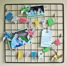 KathyMartin_Clipboard_Alt.  Love this idea.  They used a panel from a cubical snap together shelving unit.
