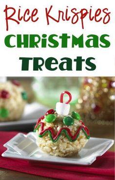 Rice Krispies Christmas Treats Recipe! ~ such a fun Christmas twist on your favorite Rice Krispie treats!