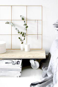 Light Nordic Interior | Scandinavian Style | Bedside Magazine Stack