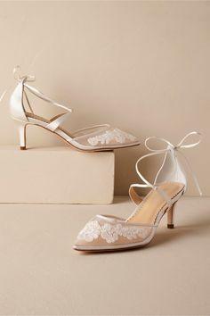 BHLDN Lisbeth Heels Ivory  in  Shoes & Accessories | BHLDN