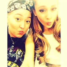 Ariana Grande and fan