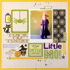 Little Boo! layout by Kim Jeffress - Scrapbook.com - Cute Halloween layout featuring Jillibean Soup!