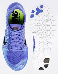 Image 3 of Nike Free 4.0 Flyknit Violet Trainers