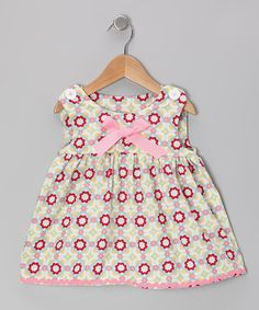Take a look at this Pink & Green Dress - Toddler & Girls by Cooper by Courtney on #zulily today!
