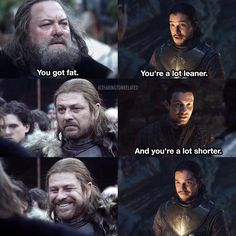 Comparaison de Ned et Robert et Jon et Gendry - Game of Thrones - Humour Gendry Game Of Thrones, Game Of Thrones Meme, Winter Is Here, Winter Is Coming, Eddard Stark, Arya Stark, Game Of Thrones Instagram, Got Memes, Valar Morghulis