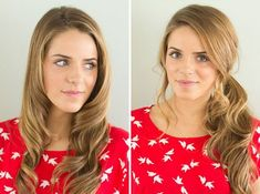 28 Gorgeous DIY Hairstyles via Brit + Co. I think a nice side ponytail would be a good hairdo for casual bridesmaids (with long hair)