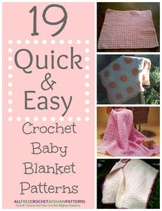 19 Quick and Easy Crochet Baby Blanket Patterns from @AllFreeCrochetAfghanPatterns