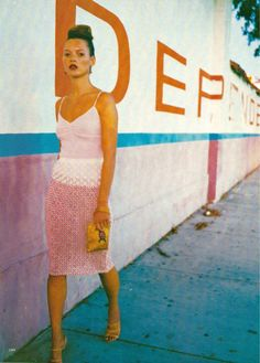"""Our Girl in Havana"". Kate Moss photographed by Drew Jarett for Allure, April 1997"