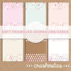 crashnotes: soft triangles journaling cards