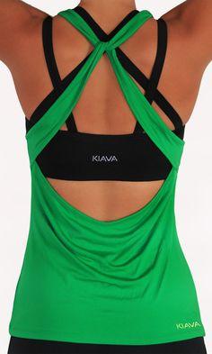 553966c2532a3 kiava Knotty Top - Green Workout Attire
