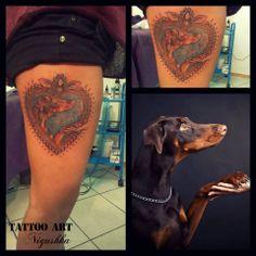Anežka Faltusová Isis #dobermanpinscher #doberman #tattoo