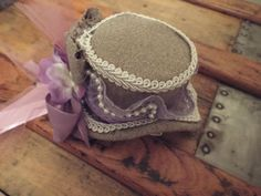 SALE Mini Top Hat in Tweed and Lilac  by TheFascinatingWench, $22.00
