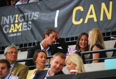 Pippa, James Middleton et Peter, Autumn Phillips lors de la finale de rugby en fauteuil roulant entre les USA et la Grande-Bretagne,  deuxième journée des Jeux Invictus au Parc olympique à Londres.