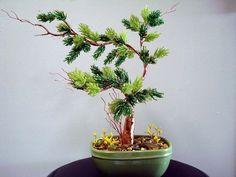 Planta de cuentas árbol de los bonsais por artofbeads en Etsy