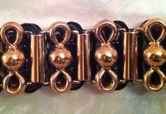 1950s copper link belt with ball & loop design done in Renoir style