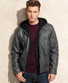 Men's Leather Jackets: How To Choose The One For You. A leather coat is a must for each guy's closet and is likewise an excellent method to express his individual design. Leather jackets never head out of styl Leather Jackets Online, Faux Leather Jackets, Leather Men, Black Leather Bomber Jacket, Revival Clothing, Calvin Klein Black, Hoodie Jacket, Jacket Men, Jacket Style