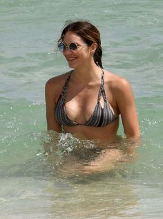 Katharine Mcphee In Bikini At A Beach In Miami