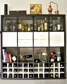 Verwendungen für den Regaleinsatz Kaltern für Weinflaschen für das Expedit Regal von Ikea.