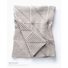 Free Easy Crochet Blanket Pattern | This mitered blanket is a fun and easy way to achieve stunning texture! Crocheted in Bernat Maker Home Dec.