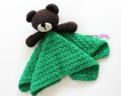 Teddy Bear Security Blanket PDF Crochet Pattern Instant