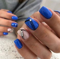 Luv this color blue , cant wait to go to the nail salon & try this next. - Luv this color blue , cant wait to go to the nail salon & try this next. Cute Acrylic Nails, Acrylic Nail Designs, Nail Art Designs, Nagellack Trends, Artificial Nails, Flower Nails, Blue Nails, Manicure And Pedicure, Diy Nails