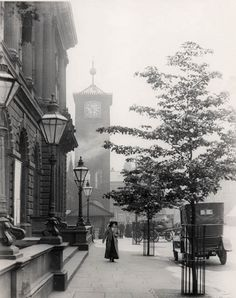 photo from the town of blackburn uk 1906 great photo of the old clock tower Old Pictures, Old Photos, Cathedral Church, Republic Of Ireland, Photo Reference, British Isles, Northern Ireland, Great Photos, England