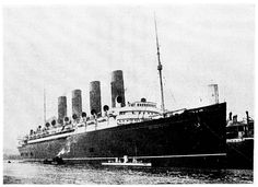 "1907; Mauretania & Turbinia (1894) meet on the river Tyne after Turbinia was repaired from a collision with the Crosby. Turbinia was the first steam turbine ship in the world. Mauretania & Lusitania utilized the same Paraons turbine technology to become the fastest ships of their day. They were the only ocean liners with ""direct drive turbines"" to ever win the Blue Ribband."
