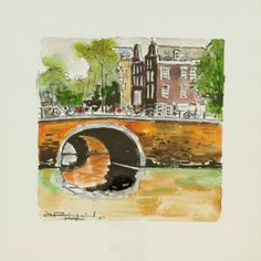 Canal by Ramon Pujol Various Artists, Fes, Santa Fe, Houston, Watercolor, Fine Art, Gallery, Painting, Magick