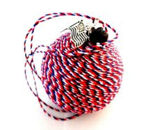 Patriotic Car Mirror Charm, American Flag Air Freshener, Red White and Blue Accessory, Automotive