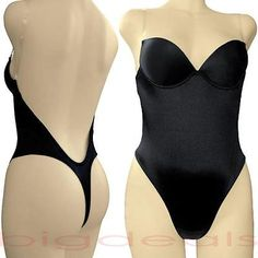 Backless Full Body Shaper Thong Convertible Seamless Low Back Max Cleavage 9001