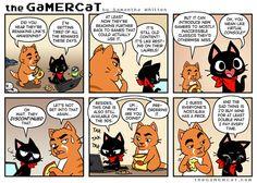 Easy Sell Gamer Cat, Haha, Comics, Drawings, Ha Ha, Cartoons, Comic, Comics And Cartoons, Comic Books