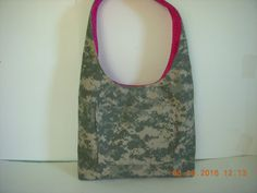 SALE Take 20% Off at checkout ACU Army Camo and Pink Leopard Hobo Boho Style by LoveToSewBags