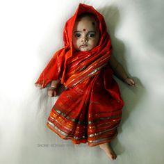 little baby in a little sari