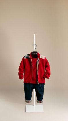 burberry hoodie kids red